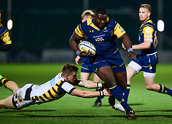 Biyi Alo of Worcester Cavaliers breaks the Wasps 'A' teams defense - Mandatory by-line: Craig Thomas/JMP - 23/10/2017 - RUGBY - Sixways Stadium - Worcester, England - Worcester Cavaliers v Wasps - Aviva A League
