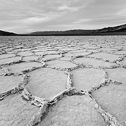 Salt Pans At Dusk - Death Valley, CA - Black & White