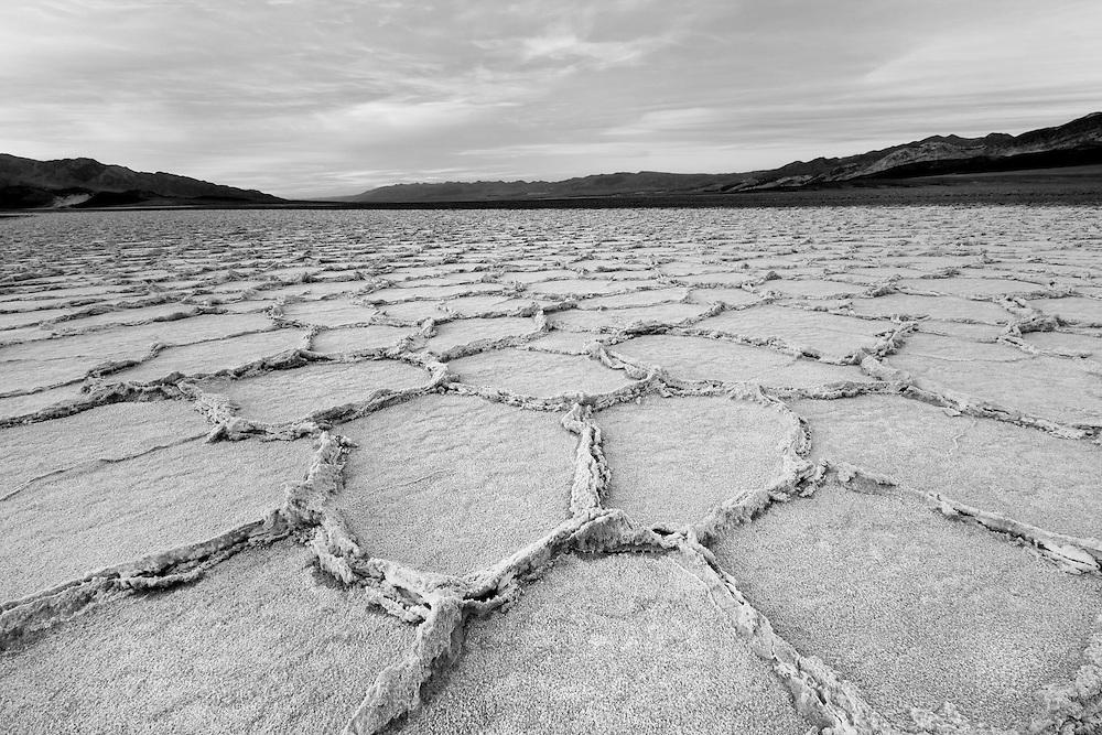 Salt Pans At Dusk - Death Valley, CA - Black & White