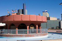 El Paso - Cd. Juarez Trolley and Visitor Information Center in downtown, El Paso, Texas.