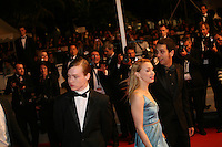 Caleb Landry Jones, Sarah Gadon attending the gala screening of The Sapphires at the 65th Cannes Film Festival. Saturday 19th May 2012 in Cannes Film Festival, France.
