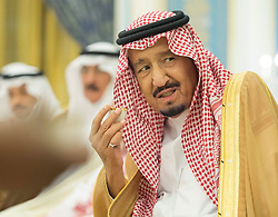 File Photo - Saudi King Salman Bin Abdelaziz Al Saud seen during a ceremony in Riyadh, Saudi Arabia on October 19, 2017. A new Saudi anti-corruption body has detained 11 princes, four sitting ministers and dozens of former ministers, media reports say. The detentions came hours after the new committee, headed by Crown Prince Mohammed bin Salman, was formed by royal decree. Photo by Balkis Press/ABACAPRESS.COM  | 613892_002 Riyadh Arabie Saoudite Saudi Arabia