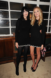 Left to right, SUSIE BICK and FLORRIE ARNOLD at a screening of a short film directed by Willem Jaspert and Stephen Langmanis to celebrate the launch of Bella Freud and Susie Bick's first design collaboration held at Town Hall, 8 Patriot Square, London E2 on 6th September 2010.