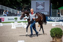 Guery Jerome, BEL, Quel Homme de Hus<br /> Rotterdam - Europameisterschaft Dressur, Springen und Para-Dressur 2019<br /> Vet-Check Springen<br /> Horse Inspection Jumping horses<br /> 19. August 2019<br /> © www.sportfotos-lafrentz.de/Sharon Vandeput