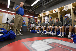 18 May 2008: Duke Blue Devils head coach John Danowski before a 21-10 win over the Ohio State Buckeyes during the NCAA quarterfinals held at Cornell University in Ithaca, NY.