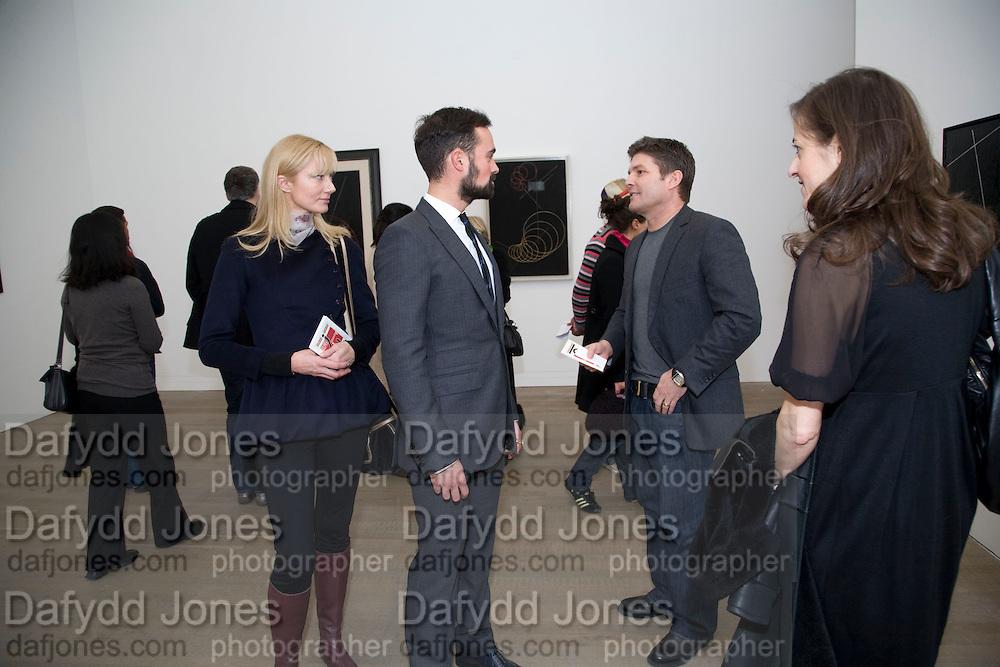 JOELY RICHARDSON; EVGENY LEBEDEV;  KENNY GOSS; APHRODITE GONOU;, Rodchenko and Popova: Defining Constructivism. Tate Modern. London. 10 February 2009 *** Local Caption *** -DO NOT ARCHIVE -Copyright Photograph by Dafydd Jones. 248 Clapham Rd. London SW9 0PZ. Tel 0207 820 0771. www.dafjones.com<br /> JOELY RICHARDSON; EVGENY LEBEDEV;  KENNY GOSS; APHRODITE GONOU;, Rodchenko and Popova: Defining Constructivism. Tate Modern. London. 10 February 2009