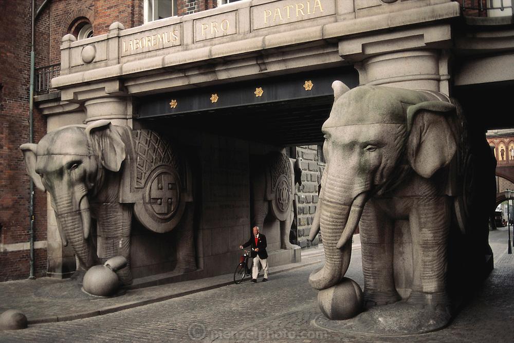Carlsberg Brewery, elephant gate. Copenhagen, Denmark.