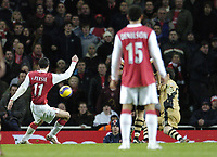 Photo: Olly Greenwood.<br />Arsenal v Charlton Athletic. The Barclays Premiership. 02/01/2007. Arsenal's Robin Van Persie scores his 2nd goal