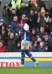 Marvin Emnes of Blackburn Rovers celebrates scoring his sides first goal - Mandatory by-line: Jack Phillips/JMP - 04/03/2017 - FOOTBALL - Ewood Park - Blackburn, England - Blackburn Rovers v Wigan Athletic - Football League Championship