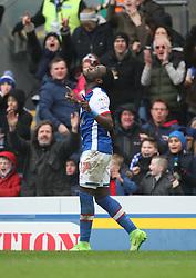 Marvin Emnes of Blackburn Rovers celebrates scoring his sides first goal - Mandatory by-line: Jack Phillips/JMP - 04/03/2017 - FOOTBALL - Ewood Park - Blackburn, England - Blackburn Rovers v Wigan Athletic - Football League Championship