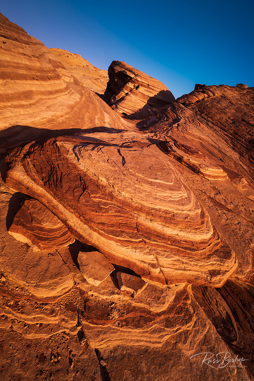 Evening light on sandstone formations, Valley of Fire State Park, Nevada USA