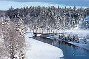 Winter, at the, 510 Bridge, photo, Marquette County, Michigan