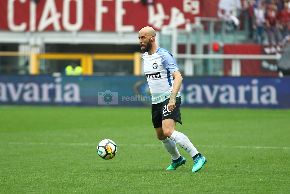 April 8, 2018 - Turin, Piedmont, Italy - Borja Valero (FC Internazionale) during the Serie A football match between Torino FC and FC Internazionale at Olympic Grande Torino Stadium on 08 April, 2018 in Turin, Italy. Torino won 1-0 over Internazionale. (Credit Image: © Massimiliano Ferraro/NurPhoto via ZUMA Press)