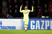 Barcelona player Lionel Messi celebrating the 0-1 during the UEFA Champions League, Group B football match between PSV Eindhoven and FC Barcelona on November 28, 2018 at Philips Stadium in Eindhoven, Netherlands - Photo Thomas Bakker / Pro Shots / ProSportsImages / DPPI