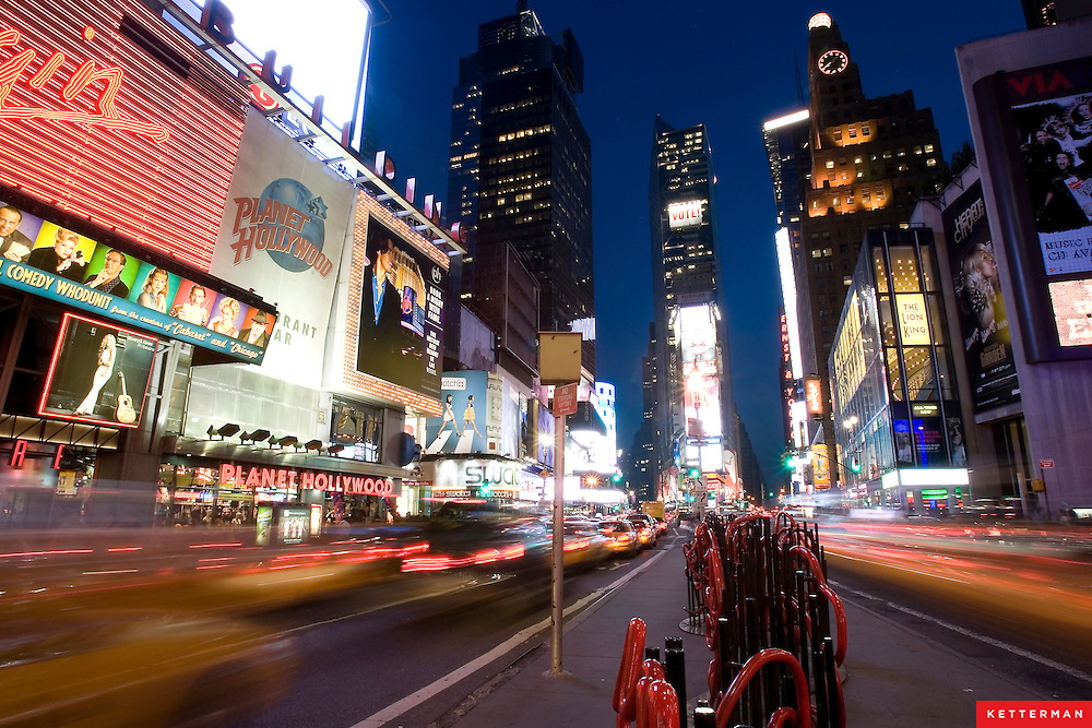 The Big Apple.  Times Square, New York City.