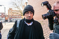 © Licensed to London News Pictures. 09/03/2018. Leeds UK. Irish Tv presenter Kieran Creaven arrives at Leeds Crown Court this morning where he is due to be sentenced for sex offences. Creaven travelled to England to meet what he thought was a 13 year old girl but was instead met by a group called Predator Exposure. On December 18th 2017, Kieran Creaven (55) from Dublin pleaded guilty to a charge of attempting to meet a girl under the age of 16 years of age following grooming. Creaven also pleaded guilty to a second charge of attempting to cause or incite a girl aged between 13 and 15 to engage in non-penetrative sexual activity. Photo credit: Andrew McCaren/LNP