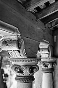 Detail of pillar - a house in Nagore. East Coast of South India.