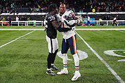 Curtis Riley (S) of the Oakland Raiders and Ha Ha Clinton-Dix (DB) of the Chicago Bears during the International Series match between Oakland Raiders and Chicago Bears at Tottenham Hotspur Stadium, London, United Kingdom on 6 October 2019.