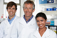 Smiling Lab Workers