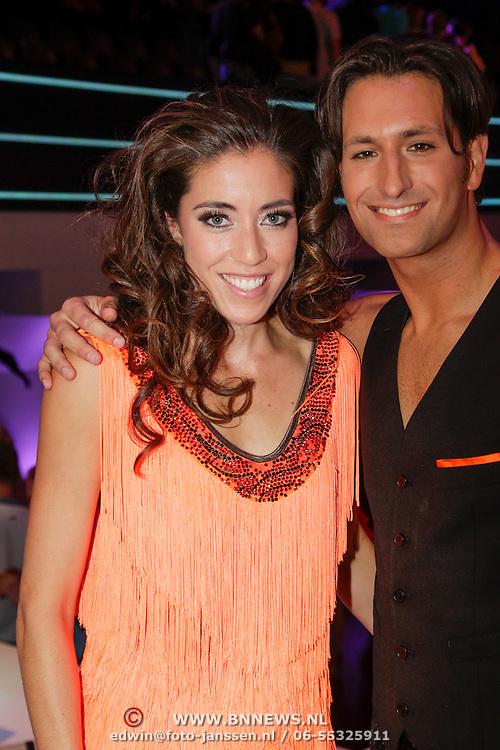 NLD/Hilversum/20120922- 5de Live uitzending AVRO Strictly Come Dancing 2012, Naomi van As en danspartner Remi Janssen