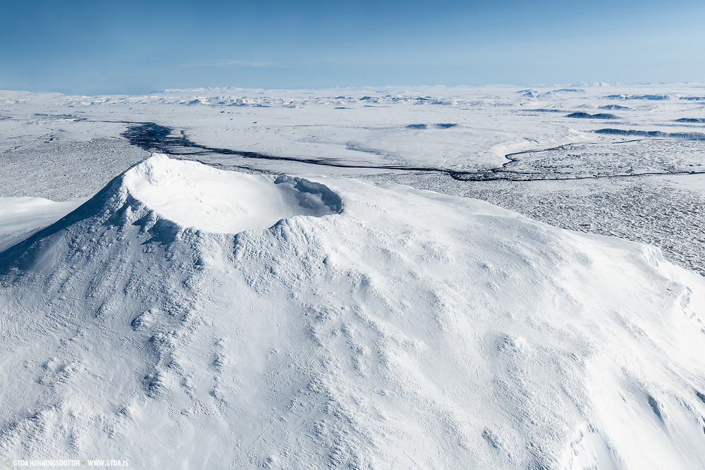 the top of Herdubreid in wintertime