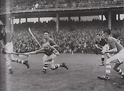 Cork corner forward Joe Kelly in action against Dublin in the 1944 All-Ireland final.