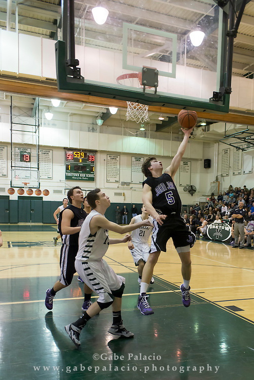 John Jay Varsity Basketball game at Yorktown High School on January 30, 2015. (photo by Gabe Palacio)