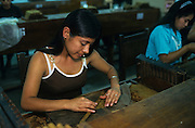 "Santa Rosa de Copàn: ""La Flor de Copàn cigar factory"", where the cigars are hand-rolled made."