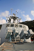 Israel, Haifa, The Clandestine Immigration and Navy Museum Israeli Navy Missile boat INS Mivtach