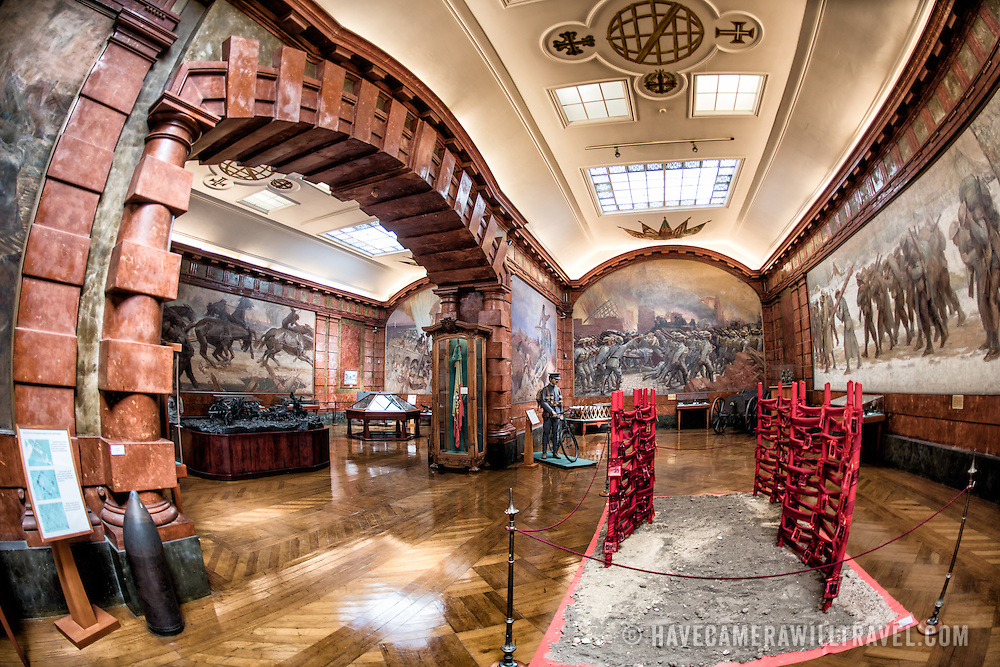 LISBON, Portugal - Exhibits focusing on World War I. Housed in the old armoury, Lisbon's Military Museum showcases 500 years of Portuguese military history, with many of the exhibits in opulently decorated rooms of the historic building.