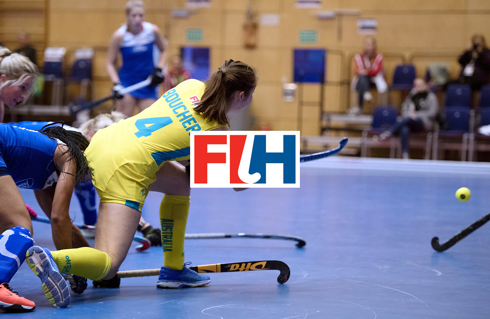 BERLIN - Indoor Hockey World Cup<br /> Australia - Namibia<br /> foto: BOUCHER Tegan<br /> WORLDSPORTPICS COPYRIGHT FRANK UIJLENBROEK