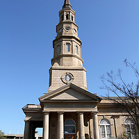 St. Phillips Episcopal Church, Charleston, South Carolina. The church cemetery includes the graves of John C. Calhoun, a vice president, and Edward Rutledge, a signer of the Declaration of Independence. The steeple was used as a line-of-sight target during the Union attack on Charleston during the Civil War