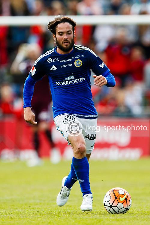 160528 Fotboll, Allsvenskan, J&ouml;nk&ouml;ping - Sundsvall<br /> (16) Robin Tranberg, GIF Sundsvall, singel action.<br /> &copy; Daniel Malmberg/Jkpg Sports Photo