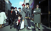 Group of young punks on Kings Road, Chelsea, London, UK, 1980s.