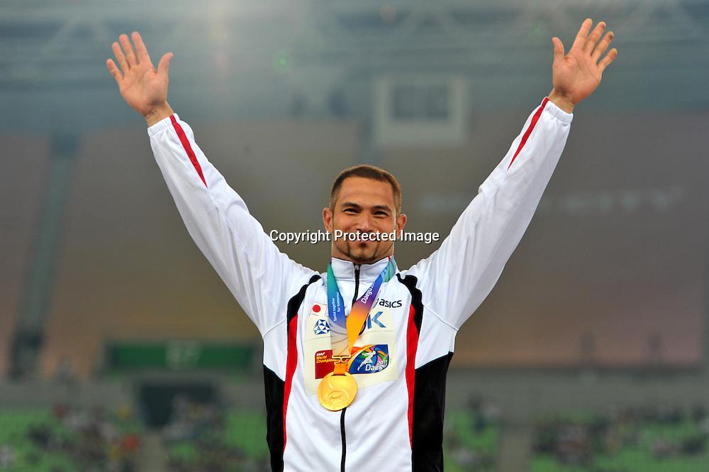 Koji Murofushi (JPN),  AUGUST 29, 2011 - Athletics :The 13th IAAF World Championships in Athletics - Daegu 2011, Men's Hammer Throw Final at the Daegu Stadium, Daegu, South Korea. (Photo by Jun Tsukida/AFLO SPORT) [0003]