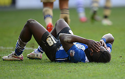 Wigan Athletic's Sheyi Ojo reacts to a missed chance - Photo mandatory by-line: Richard Martin-Roberts/JMP - Mobile: 07966 386802 - 07/03/2015 - SPORT - Football - Wigan - DW Stadium - Wigan Athletic v Leeds United - Sky Bet Championship
