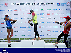 From 9 to 16 September 2018, the Tokyo 2020 Olympic Sailing Competition venue in Enoshima, Japan, will host sailors for the first event of the 2019 World Cup Series. More than 450 sailors from 45 nations will race in the 10 Olympic events.  ©PEDRO MARTINEZ/SAILING ENERGY/WORLD SAILING<br /> 15 September, 2018.