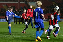 Elmlea (blue) play eventual Boys Cup winners Ashton vale School (red/black) - Photo mandatory by-line: Rogan Thomson/JMP - Mobile: 07966 386802 - 19/03/2015 - SPORT - Football - Bristol - Ashton Gate - Bristol Sport Schools Cup.
