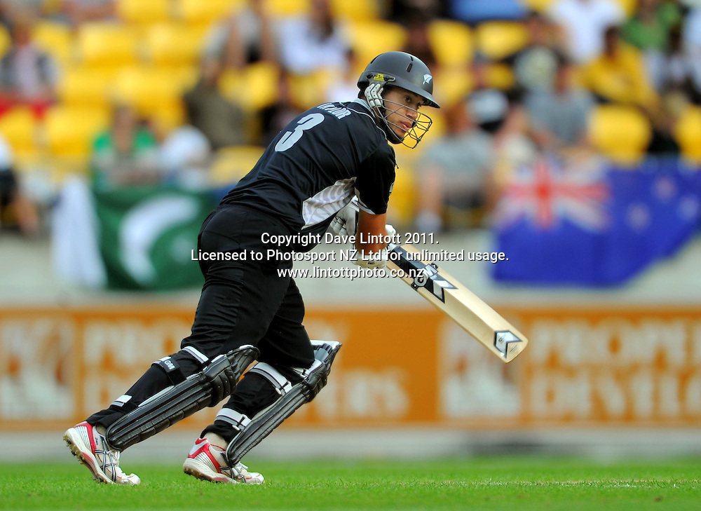 NZ batsman Ross Taylor. First one-day international cricket match - New Zealand v Pakistan at Westpac Stadium, Wellington, New Zealand on Saturday, 22 January 2011. Photo: Dave Lintott / photosport.co.nz