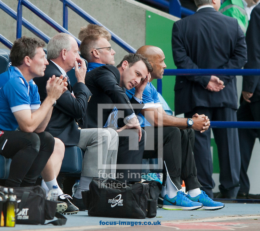 Bolton Wanderers manager Dougie Freedman has a look of resignation during the Sky Bet Championship match at the Macron Stadium, Bolton<br /> Picture by Russell Hart/Focus Images Ltd 07791 688 420<br /> 27/09/2014