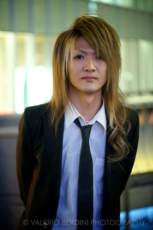 One of the few teens, working as hosts, that agreed for a posed portrait. Osaka, Japan 2013