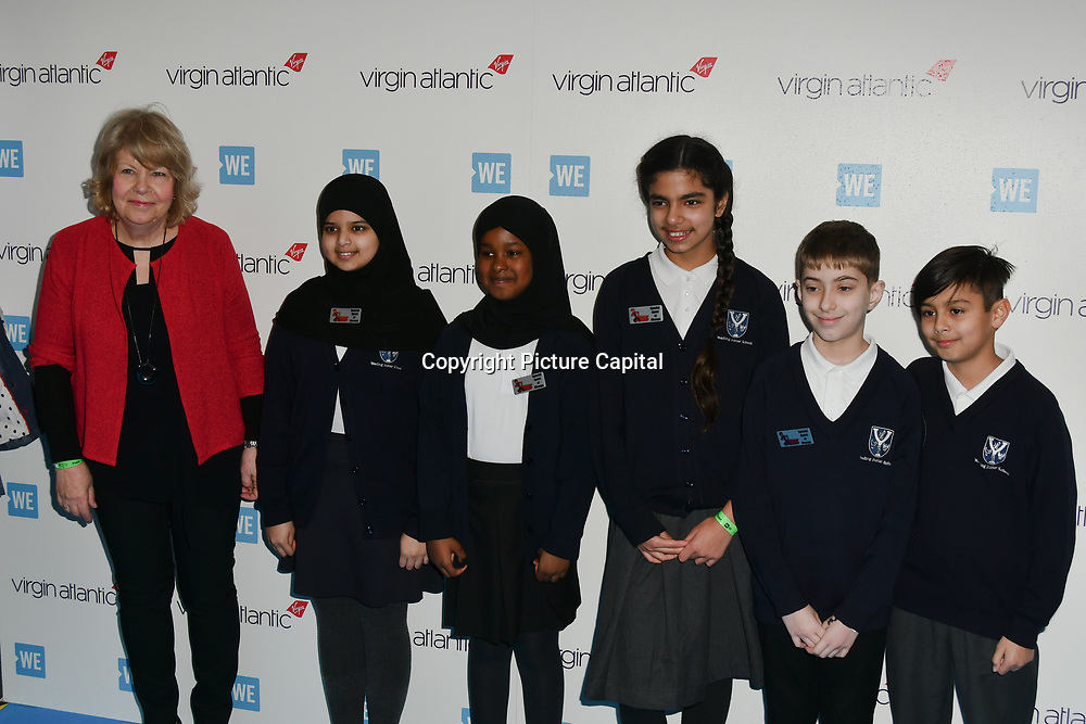 Yeading Junior School arrives at the WE Day UK at Wembley Arena, London, Uk 6 March 2019.