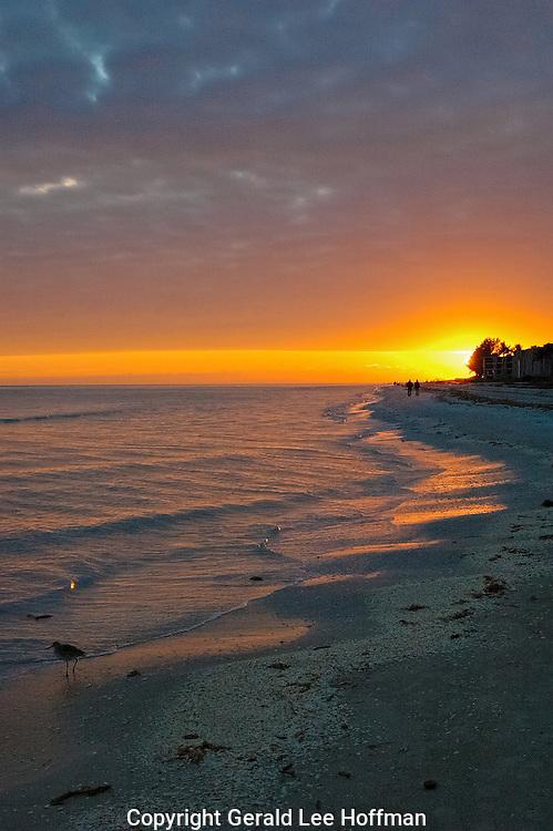 Sunset on Sanibel Island.