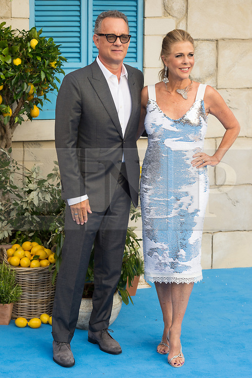 © Licensed to London News Pictures. 16/07/2018. London, UK. Tom Hanks and Rita Wilson attends the Mamma Mia! Here We Go Again World Film Premiere at Eventime Apollo Hammersmith. Photo credit: Ray Tang/LNP