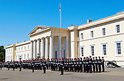 Passing Out Parade at Sandhurst Royal Military Academy, Surrey, UK