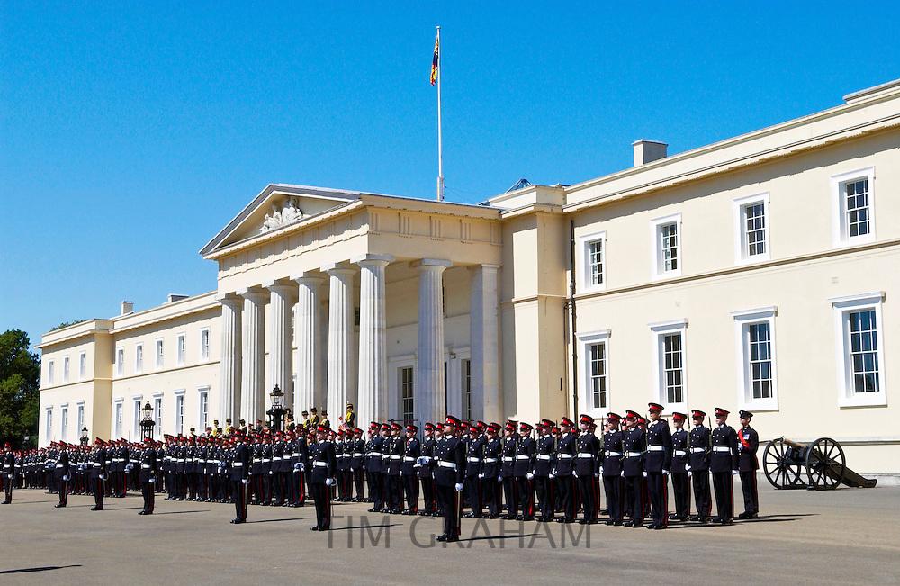 Passing Out Parade at Sandhurst Royal Military Academy, Surrey, UK