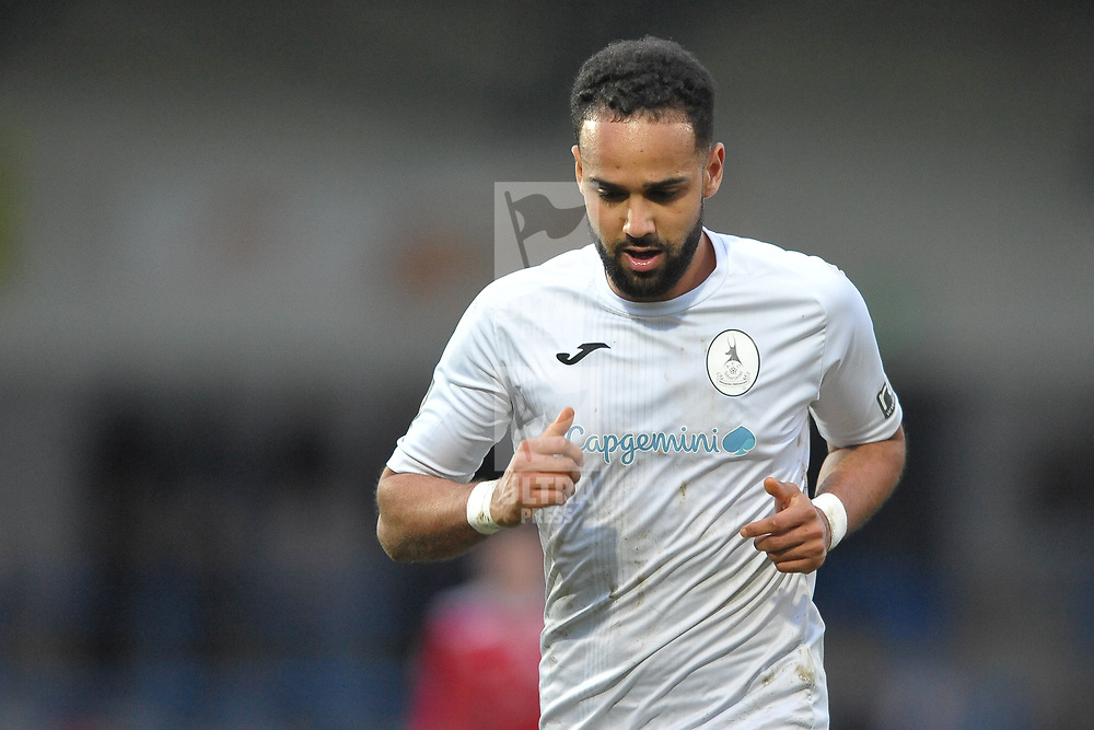 TELFORD COPYRIGHT MIKE SHERIDAN Brendon Daniels of Telford during the Vanarama Conference North fixture between AFC Telford United and Brackley Town at the New Bucks Head on Saturday, January 4, 2020.<br /> <br /> Picture credit: Mike Sheridan/Ultrapress<br /> <br /> MS201920-039