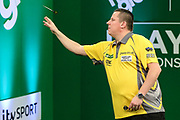 Dave Chisnall during the PDC Darts Players Championship at  at Butlins Minehead, Minehead, United Kingdom on 24 November 2017. Photo by Shane Healey.