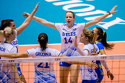 23-08-2017 NED: World Qualifications Greece - Slovenia, Rotterdam<br /> Sloveni&euml; wint met 3-0 / Lana Scuka #14 of Slovenia