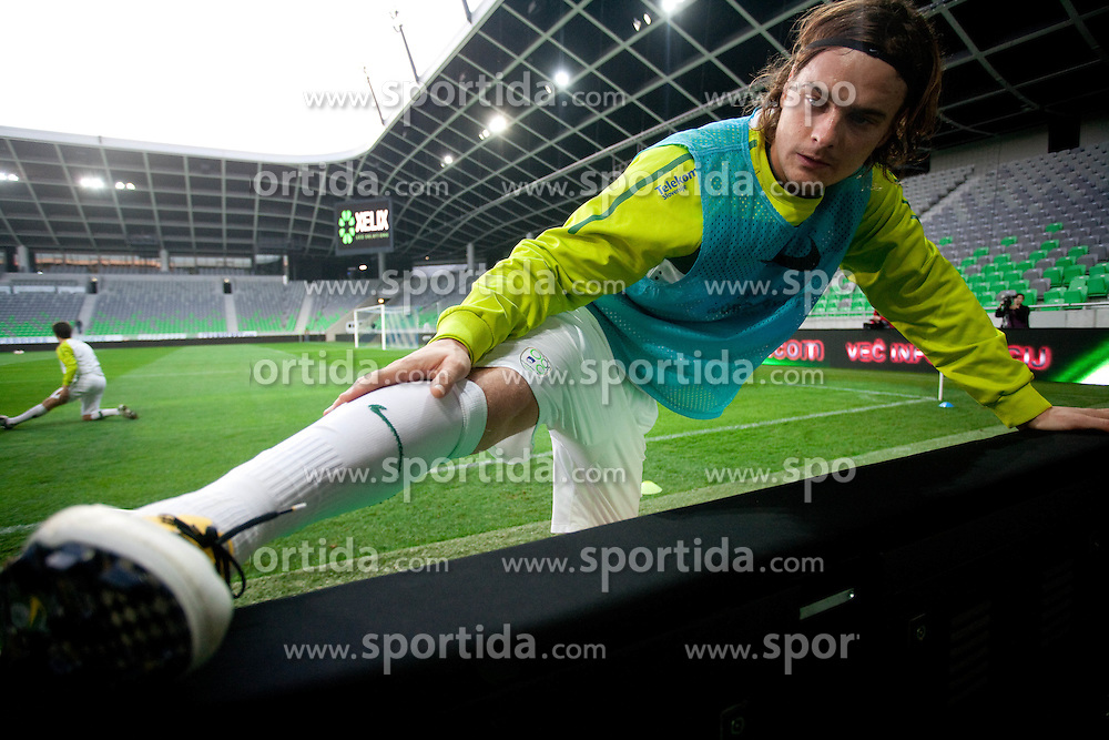 Nejc Pecnik during practice session of National team of Slovenia 1 day before EURO 2012 Qualifications match against Italy, on March 24, 2011, SRC Stozice, Ljubljana, Slovenia. (Photo by Vid Ponikvar / Sportida)